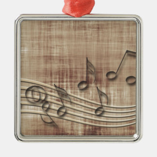 Make Music 03 beige Christmas Tree Ornament