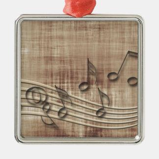 Make Music 03 beige Christmas Ornaments