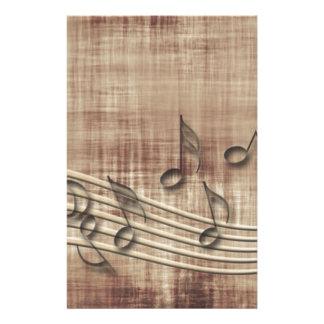 Make Music 03 beige Personalized Stationery