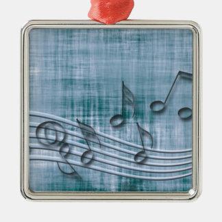 Make music 03 blue christmas ornament