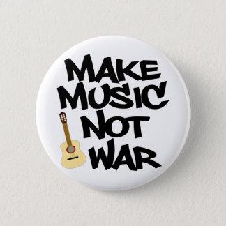 Make Music Not War Acoustic guitar 6 Cm Round Badge