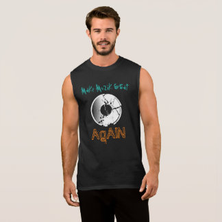 Make MuZiK Great Again with Neg Record Sleeveless Shirt