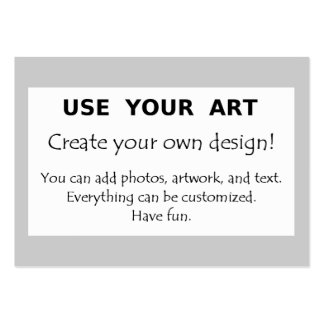 Make my own art photo logo oversize chubby design business card template