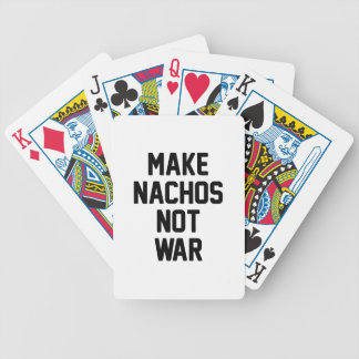 Make Nachos Not War Bicycle Playing Cards