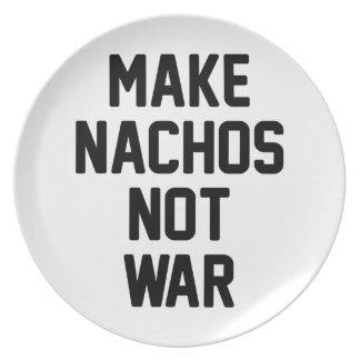 Make Nachos Not War Plate