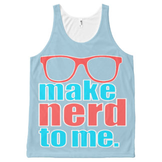 Make Nerd to Me All-Over Print Singlet