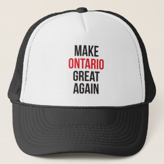 Make Ontario Great Again Canada First Flag #MCGA Trucker Hat