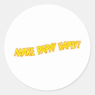 make pappy happy round sticker