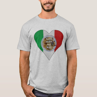 Make Pasta Not War Italian Heart T-shirt