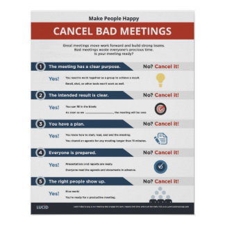 Make People Happy: Cancel Bad Meetings Poster