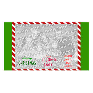 Make personal Merry Christmas Family Photo Pack Of Standard Business Cards