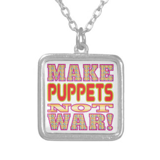 Make Puppets v2 Silver Plated Necklace