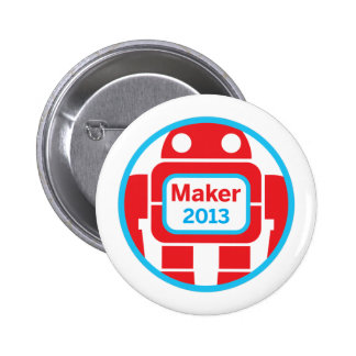 Make Robot 6 Cm Round Badge