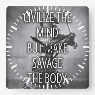 Make Savage The Body - Training Motivational Square Wall Clock