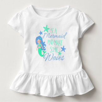 Make sees Mermaid and some Waves Toddler T-Shirt