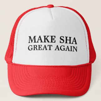 Make SHA Great Again! A hat for true Hotelies...