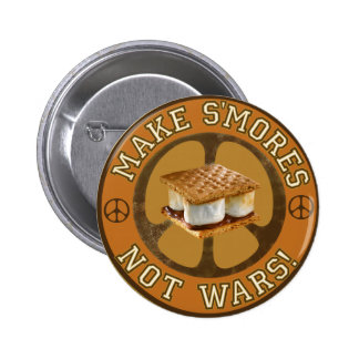 Make S'mores Not Wars 6 Cm Round Badge