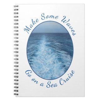Make Some Waves Sea Cruise Spiral Notebook