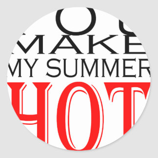 make summer hot flirt teenage memory hot black bea round sticker