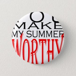 make summer worthy flirt teenage memory hot black 6 cm round badge