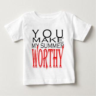 make summer worthy flirt teenage memory hot black baby T-Shirt