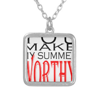 make summer worthy flirt teenage memory hot black silver plated necklace