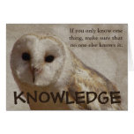 Make sure that only you have the knowledge greeting card