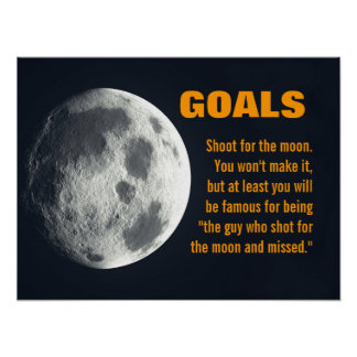Make sure you set your goals very high 3 poster