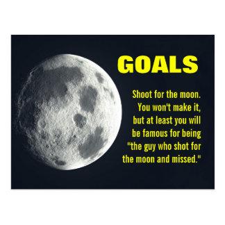 Make sure you set your goals very high postcard