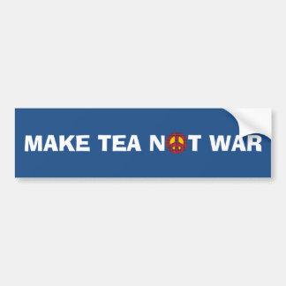 Make Tea Not War No Nukes Bumper Sticker