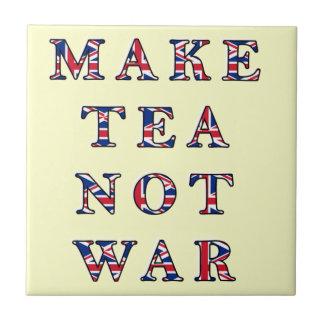 Make Tea Not War Trivet Tile Gift