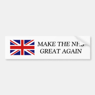MAKE THE NHS GREAT AGAIN Union Jack bumper sticker