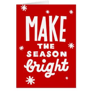 Make The Season Bright Christmas Card CUSTOMIZE