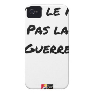 MAKE the WALL NOT the WAR - Word games Case-Mate iPhone 4 Case