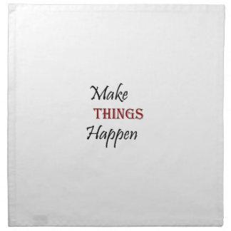 Make Things Happen Napkin