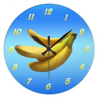 Make Time For Bananas Large Clock