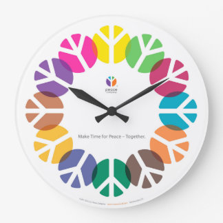 Make Time for Peace – Together / Large Clock