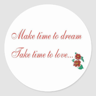Make Time To Dream Sticker