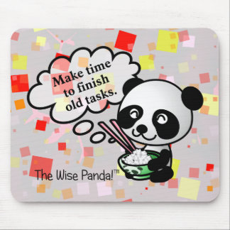 Make time to finish old tasks mouse pad