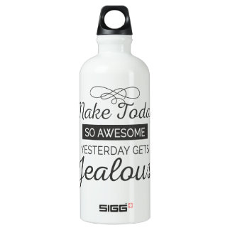 Make today awesome motivational quote SIGG traveller 0.6L water bottle