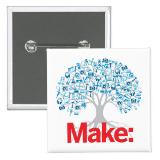 Make Tree 15 Cm Square Badge
