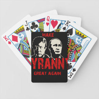 Make tyranny great again bicycle playing cards