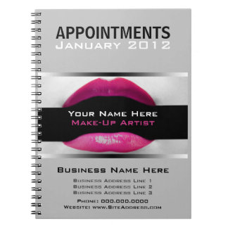 Make Up Artist Appointment Schedule Notebook