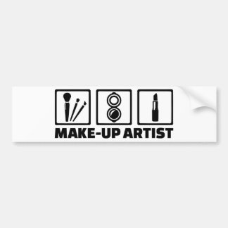 Make-up artist bumper sticker