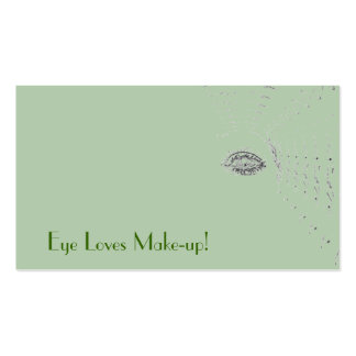 Make-up artist green eye with bonus text pack of standard business cards