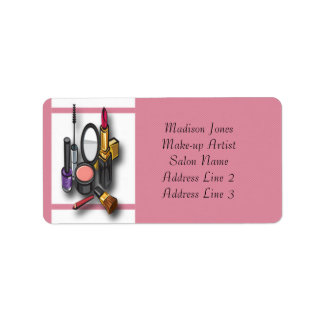 Make-up Artist Make-up Address Labels