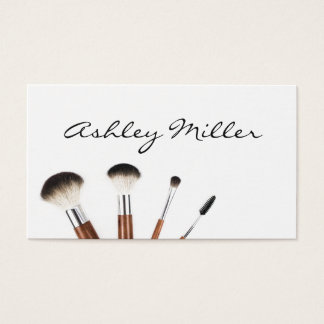 Make Up Brushes Professional Make Up Artist Business Card