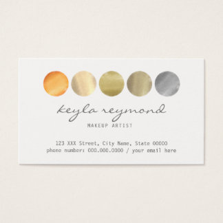 make-up colors palette / makeup artist business card
