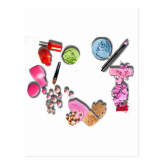 Make Up Girl  customize cosmetics Postcard