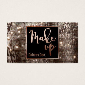 ★ Make Up Glitter-Modern Calligraphy Design Business Card